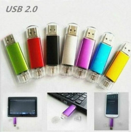 Flash Memory Thumb Drives NZ - Multicolor 10PCS 64GB OTG USB 2.0 Flash Drive Thumb Drives Storage Memory Stick Pen Drive for Computer Android Smartphone Tablet Macbook