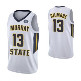 febc72906d9 Tevin Brown Navy Blue Youth Murray State Racers Devin Gilmore Yellow  Embroidery White Custom Stitched College Basketball Jersey