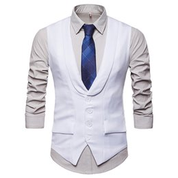 d9448143609 2018 New Arrival Dress Vests For Men Slim Fit Mens Suit Vest Male Waistcoat  Homme Casual Sleeveless Formal Business Jacket Y1264
