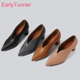 small heels lady shoes 2019 - Hot 2019 Brand New Sexy Apricot Brown Women Formal Pumps 2 inch High Heels Lady Nude Shoes ES196 Plus Big Small Size 10