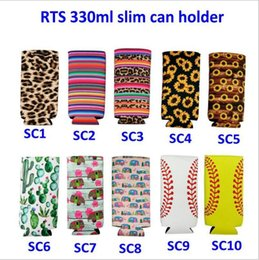 Wholesale Neoprene Cooler Bags Slim Beer Can Cooler Tall Stubby Holder Foldable Stubby Holders Beer Cooler Bags Fits oz Slim Energy Drink Beer
