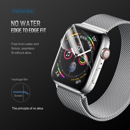 Smart Watch Screen Protectors Australia - Screen Protector iWatch 4 3 2 For Apple Watch 38mm 40mm 42mm 44mm Hydrogel Full Protective Film smart series 4 watches tempered glass