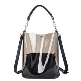 Discount european american designer handbags - New hot sale 2019 brand fashion luxury designer bags Transparent bucket Crossbody Shoulder bags designer luxury handbags
