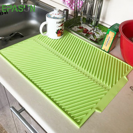 $enCountryForm.capitalKeyWord NZ - Epasun Large Dish Drying Premium Heat Resistant Silicone Tableware Dishwaser Safe Pad Dinnerware Table Mat Placemat 43*33cm Q190524