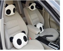 $enCountryForm.capitalKeyWord NZ - 1Pc Car Seat Covers Neckpillow Car Interior Accessories Universal Car Styling Headrest Pillows Lovely Panda Pattern