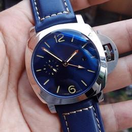 $enCountryForm.capitalKeyWord Australia - 2019 Luxury Designer Watch Men's 316L Steel Pam688 GMT Automatic Blue Dial Transparent Caseback Men Mens Watch Watches Wristwatches