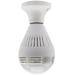 camera bulbs UK - Wireless WIFI IP Camera Panoramic 360 Degree Bulb LED Lights 960P For Home Security