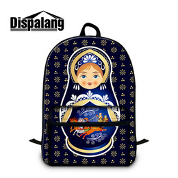 black men doll 2019 - Simple Student Schoolbag for Girls Outdoor Lady's Backpack Custom Fancy Cotton Bags Design Matryoshka Russia Doll P