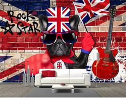 $enCountryForm.capitalKeyWord Australia - custom size 3d photo wallpaper living room mural Bar KTV Retro Rock Dog Guitar Fashion 3d picture backdrop wallpaper non-woven wall sticker