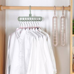 $enCountryForm.capitalKeyWord NZ - Creative Multi-function Magic Hanger Porous Folding Household Rotating Non-slip Drying Rack Clothes hanging grey four colors