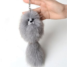 Real Girls Toys Australia - Cute Little Fox Real Keychain Pendant Girl Children Bag Accessories Toy Gift Car Soft Pompom Keyring