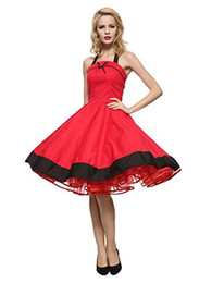 Wholesale 1950s dresses for sale – plus size Maggie Tang Women s s Vintage Rockabilly Dress