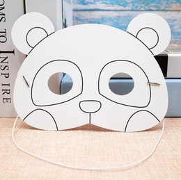 $enCountryForm.capitalKeyWord NZ - Kindergarten Painting Handmade DIY Graffiti Blank Mask Art Material Animal Panda Cartoon Paper Mask Painting Suitable for Children