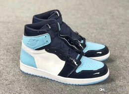 $enCountryForm.capitalKeyWord Canada - 2019 Newest 1 High OG UNC Patent Basketball Shoes Men Obsidian Blue Chill White 1S Sports Boots Retro Sneakers CD0461-401 With Box US 5.5-12