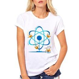 Venta al por mayor de 2019 Casual O-cuello Impreso camiseta Hipster Top Tees Homme Summer Womens Science Electron Cool