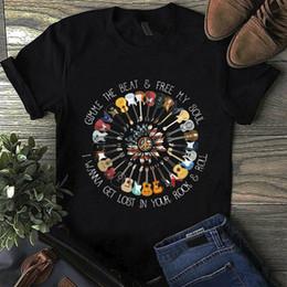 $enCountryForm.capitalKeyWord NZ - Hippie America Guitar Gimme The Beat & Free My Soul T Shirt Black Men S 6Xl