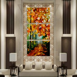 Oil Paint Abstract Forest Hd Australia - Oil Painting HD Print Leonid Afremov Abstract Forest Trees On Canvas Modern Decoration Wall Art Without Framed   With framed