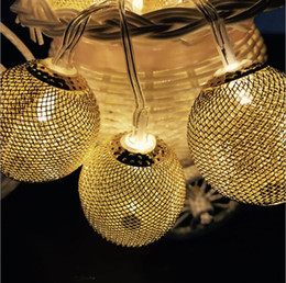 Ball Drip Australia - US EU metal string light led bulbs golden drip lights 3w led strings for indoor decoration wedding christmas party holiday lights