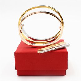 Platinum fish bracelet online shopping - Luxury Fifth Carter Bracelets and Bangles for the Wedding Jewelry Titanium Steel Bracelet lover with screwdriver and box set C19010401