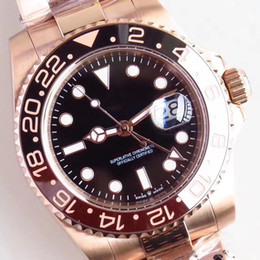 Rising Hands NZ - Top Mens Watches All Rose Gold Case and Stainless Steel Bracelet Watch Black Index Dial 40 MM Automatic Luminescent Hands and Markers