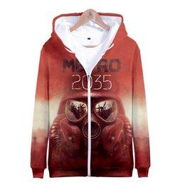 $enCountryForm.capitalKeyWord Australia - Metro Exodus 3D Printed Zipper Hoodies Women Men Fashion Long Sleeve Hooded Sweatshirts 2019 Hot Sale Casual Streetwear Clothes