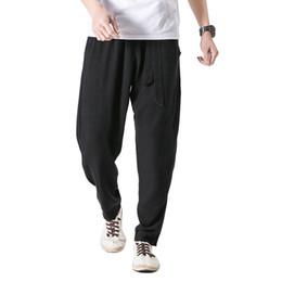 958f949133b 2019 Cotton Linen Harem Pants Men Jogger Pants Male Trousers Chinese  Traditional Clothes Size Plus 5xl