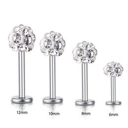 $enCountryForm.capitalKeyWord NZ - Wholesale Body Jewelry Labret Rings Stainless Steel shaballa Crystal Disco Ball Lip Piercing Jewelry 16G Lip Ring 30pcs