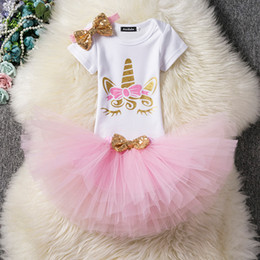 aeed737d224a Baby Girl 1st Birthday Outfits Unicorn Party Wear For 2 Year Girls Summer Kids  Dresses Infant Christening Gown Bebek Vestido