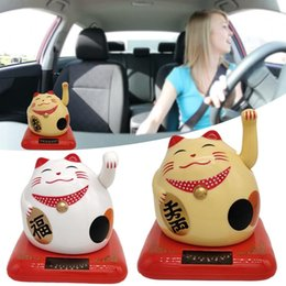 Decoration fortune online shopping - Cute Solar Powered Fortune Cat Car Accessories Home Decoration Holiday Gifts Children Toys