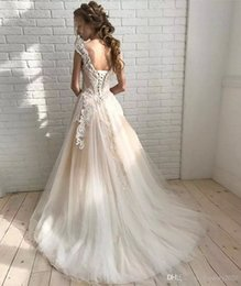 Plus Size Ball Gowns For Cheap Australia - Cheap Sexy Vintage Lace Satin Quinceanera Dresses For Girls Ball Plus Size Wedding Gowns Lace Top Appliques Beaded Pind Sleeves High Quality