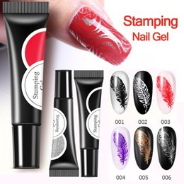 Gel Printing NZ - 100pcs Stamp Nail Polish 6 Colors Stamping Nail Lacquer Printing Gel Nail Polish DIY Manicure Art Tool