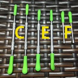 Metal Nail Sticks Australia - Wax Tools Wholesale metal dab tool wax dabber tool with silicone top dab wax tools, smoking nail dab sticks