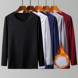 $enCountryForm.capitalKeyWord Australia - Autumn Winter Mens Thermal T Shirt Soft Velvet Thick Long Sleeve T-shirt Men Black White Slim Fit Plus Size 5xl Tshirt Homme