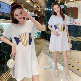 0646de6b8 Korean maternity dresses online shopping - New summer maternity dress  Korean version of the large size