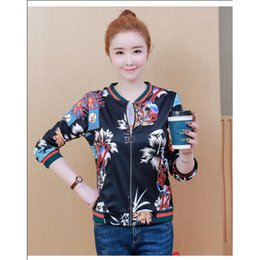 Wholesale korean baseball shirt for sale – winter Baseball Shirt Coat Women s Spring Autumn Korean Long sleeved O Neck Plus Size xl Student Casual Sports Jacket Top Female