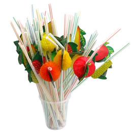 $enCountryForm.capitalKeyWord UK - 3D Fruit Art Straws Disposable Plastic Straw Wedding Party Drinking Straw Cocktail Supplies 100 Pieces ePacket