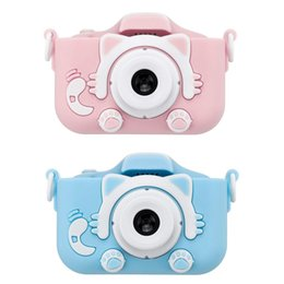 New HD 1080P Dual Digital Camera For Children Kids Camera With Cartoon Case Children's Camera Birthday Christmas Gift for Kids T200401 on Sale