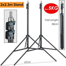 $enCountryForm.capitalKeyWord NZ - 2 x 230cm Heavy Duty Photography Light Stand Max Load 5KG Support Tripod for Photographic Lighting LLED Lamp Softbox Umbrella 2 x