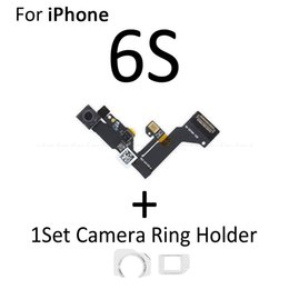 camera 5s UK - 10psc NEW Front Camera Ring Holder For iPhone 4 4S 5 5S 5C SE 6S 6 Plus Front Facing Camera Lens Light Proximity Sensor Flex Cable
