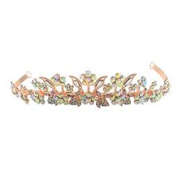 Discount fashionable crowns - 1 Pc Plum Rhinestone Bridal Crown Shinny Luxury Fashionable Headwear Headdress Hair Accessories for Wedding Women Bride