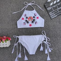 676ff7c9d22 Cute Push Up Bikinis Australia - 2019 OEM White Bandage Fringe Bandage Two  pieces Leopard Retro