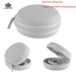$enCountryForm.capitalKeyWord Australia - 1Pcs Headphone Storage Case Box durable Carrying Hard Bag Box organizer for SD TF Card Earphones Free