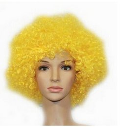 $enCountryForm.capitalKeyWord Australia - FREE SHIPPING+ ++ + Women Men Child Party Disco Rainbow Afro Clown Fan Yellow Curly Full Wigs