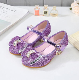 016f76befb5 Children s Performance party casual shoes spring autumn girls sequined  leather shoes bow princess Dance wedding Single shoes Sandal