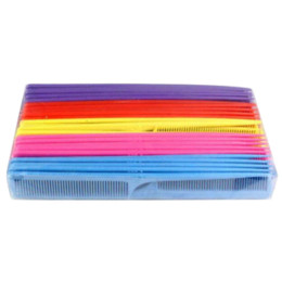 Cosmetic Hair Combs Australia - ELECOOL 1pc colorful heat resistance plastic Fine-tooth cosmetic comb combing hair easy use anti static wholesale