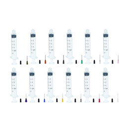 total packs Australia - 5ml Industrial Syringes with Plastic 1in Mixed Size Blunt Tip Fill Dispensing Needle Total Cap Pack of 33