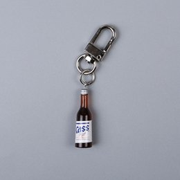 $enCountryForm.capitalKeyWord Australia - New Designs Funny Korea Wine Bottle Keychain, Cute Mini Pendant Fashion Bag Accessory Key Chain, Best Friendship Gift Jewelry