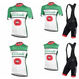 SleeveleSS cycle jerSeyS online shopping - Euskadi team Cycling Short Sleeves Sleeveless tops Vest jersey bib shorts sets Mens outdoor sports cycling clothing Q71617