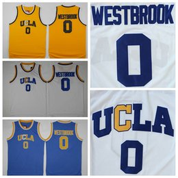 UCLA Bruins  0 Russell Westbrook Jersey Stitched Yellow White Blue NCAA  University Russell Westbrook College Basketball Jerseys Shirts 34d438fac