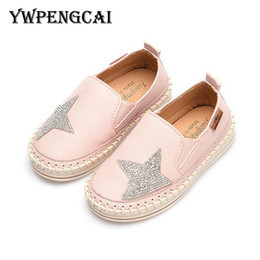 casual girl shoes Australia - Ywpengcai 2019 Spring Autumn Rhinestone Star Baby Girls Casual Shoes Boys Loafers Shoes Kids Moccasins Shoes MX190727